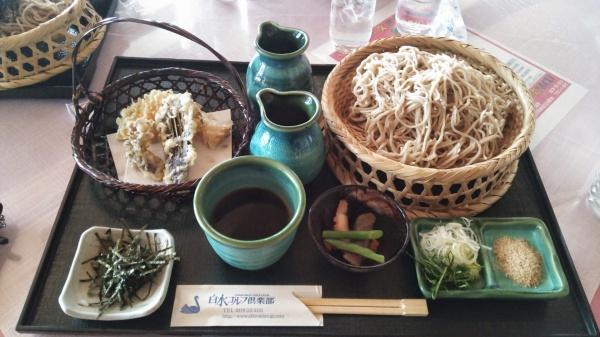白水ゴルフ倶楽部の天ぷら蕎麦