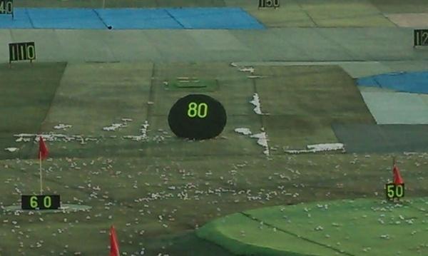 何球目で、80yの的に当てられますか?