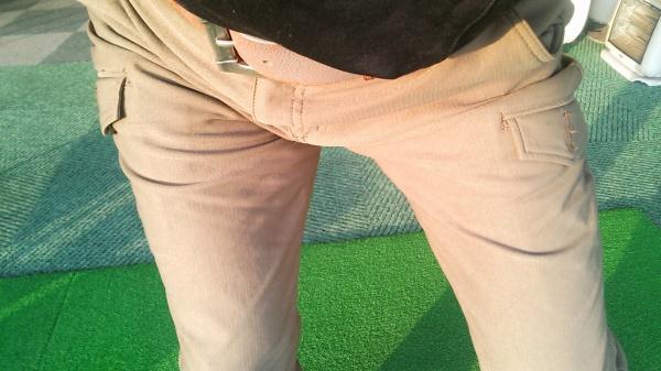 腰ぬけ防止の大股スイング