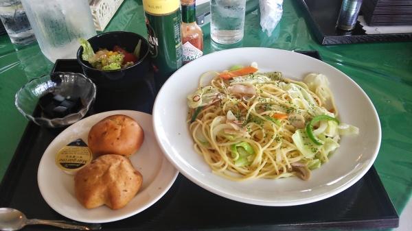 野菜たっぷりペペロンチーノ大盛り(赤城国際CC)