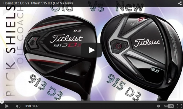 新旧ドライバー対決。Titleist 913 D3 Vs Titleist 915 D3 (Old Vs New)