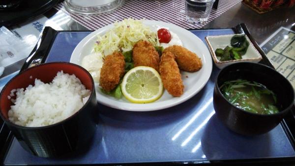 カキフライ定食(前橋ゴルフ場)