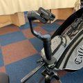 今人気のスマホ用超軽量ジンバルを練習場に持ち込みました。